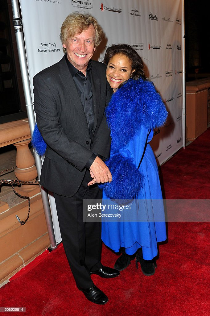 Producer Nigel Lythgoe (L) and Choreographer Debbie Allen attend the U.S. Premiere of Debbie Allen's 'Freeze Frame' at The Wallis Annenberg Center for the Performing Arts on February 4, 2016 in Beverly Hills, California.