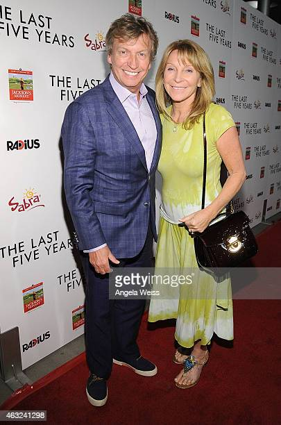 Producer Nigel Lythgoe and his wife Bonnie Lythgoe attend the premiere of RADiUS' 'The Last Five Years' at ArcLight Hollywood on February 11 2015 in...