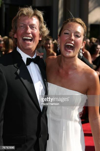 Producer Nigel Lythgoe and So You Think You Can Dance host Cat Deeley arrive at the 59th Annual Primetime Emmy Awards at the Shrine Auditorium on...