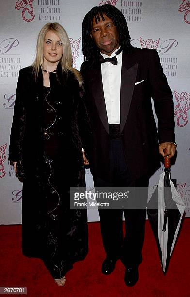 Producer Nile Rodgers and girlfriend Nancy Hunt attend The G P Foundation For Cancer Research salutes The World of Entertainment and Media at The...