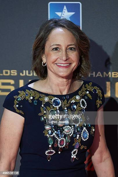 Producer Nina Jacobson attends The Hunger Games Mockingjay Part 2 premiere at the Kinepolis Cinema on November 10 2015 in Madrid Spain