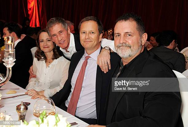 Producer Nina Jacobson Jon Feltheimer Michael Burns and Tim Palen attend Lionsgate's The Hunger Games Catching Fire Cannes Party at Baoli Beach...