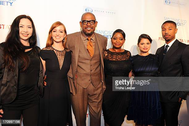 Producer Nina Yang Bongiovi, Ahna O'Reilly, producer Forest Whitaker, Octavia Spencer, Melonie Diaz and Micheal B. Jordan arrive at the premiere of...