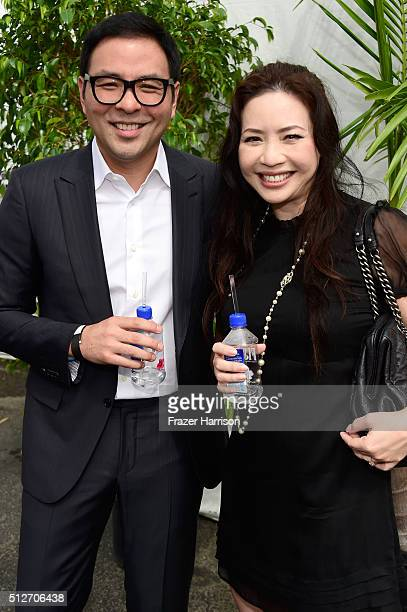 Producer Nina Yang Bongiovi and investor Michael Chow attend the 2016 Film Independent Spirit Awards on February 27 2016 in Santa Monica California