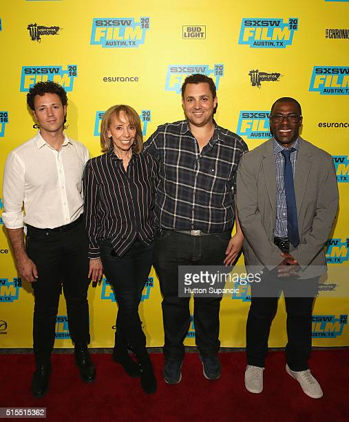 Producer Noah Ornstein executive producer Laurie Harris director Matt Ornstein and producer Allen Hopkins attend the premiere of Accidental Courtesy...