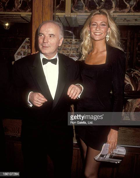 Producer Noel Pearson and actress Alison Doody attend the 'Someone Who'll Watch Over Me' Opening Night Party on November 23, 1992 at Gallagher's in...