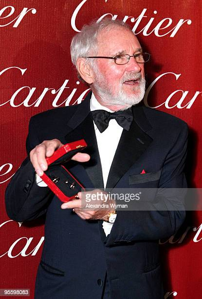 Producer Norman Jewison poses backstage during the 2010 Palm Springs International Film Festival gala held at the Palm Springs Convention Center on...