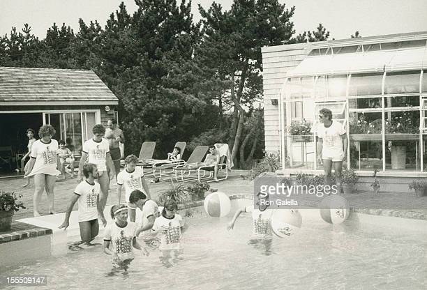 Producer Norman Kean and the cast of Oh Calcutta attend 12th Anniversary Party for Oh Calcutta on August 13 1981 at Norman Kean's home in Montauk New...