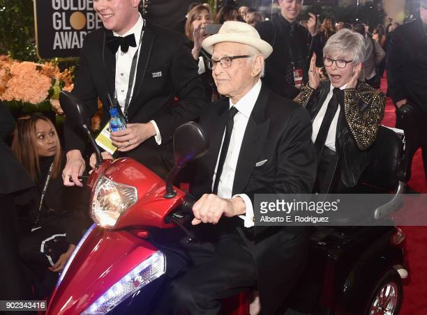 Producer Norman Lear and actor Rita Moreno attends The 75th Annual Golden Globe Awards at The Beverly Hilton Hotel on January 7 2018 in Beverly Hills...