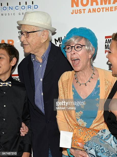 """Producer Norman Lear and actress Rita Moreno attend the premiere of Music Box Films' """"Norman Lear: Just Another Version Of You"""" at The WGA Theater on..."""