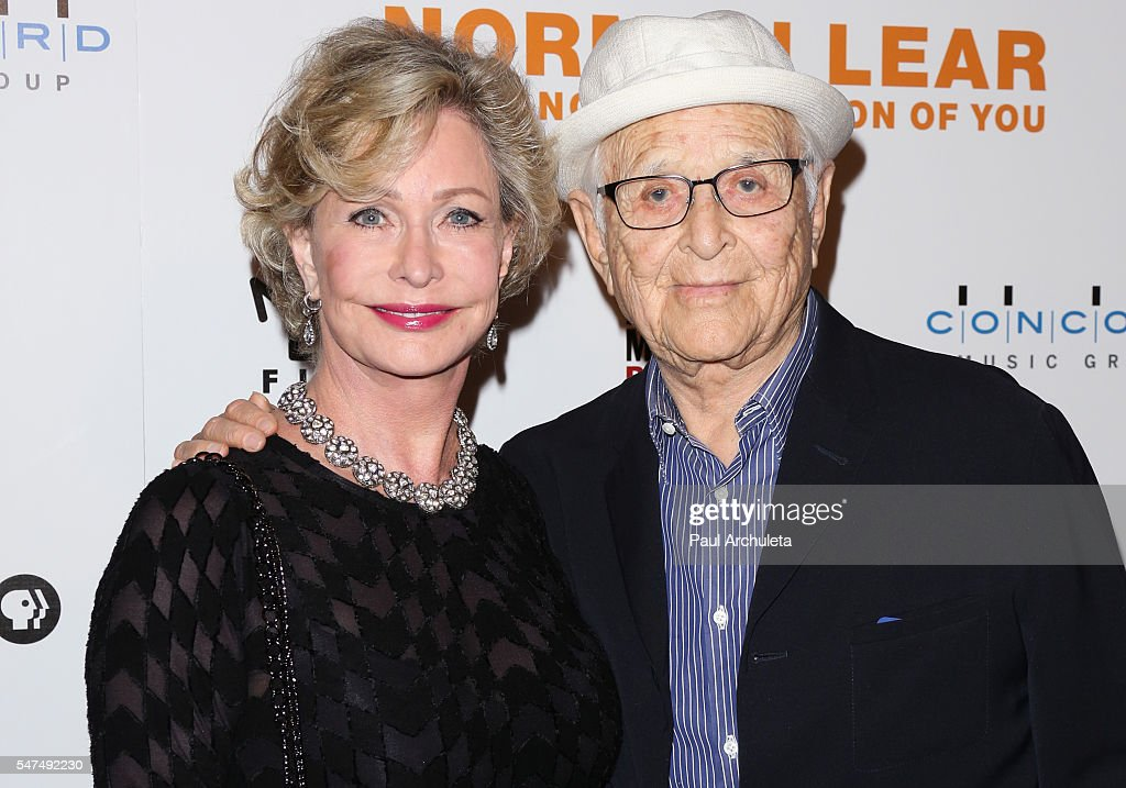 Producer Norman Lear (R) and his Wife Lyn Lear (L) attend the premiere of 'Norman Lear: Just Another Version Of You' at The WGA Theater on July 14, 2016 in Beverly Hills, California.