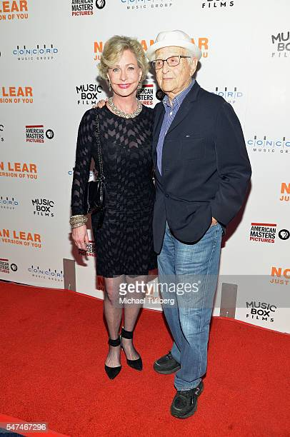 """Producer Norman Lear and wife Lyn Lear attend the premiere of Music Box Films' """"Norman Lear: Just Another Version Of You"""" at The WGA Theater on July..."""