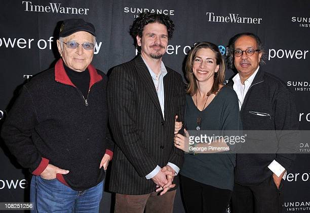 Producer Norman Lear writer Dave Eggers Executive Director of the President's Committee on the Arts and Humanities Rachel Goslins and actor George C...