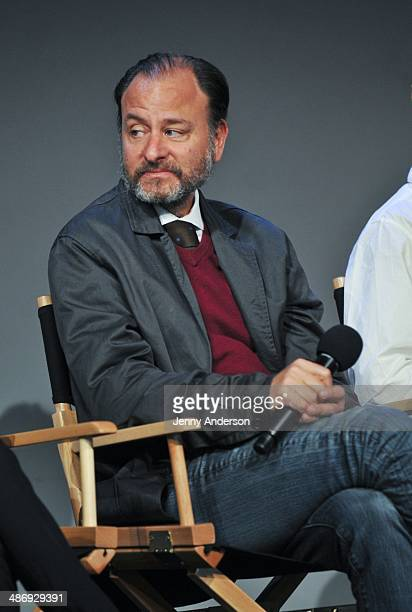 Producer of the documentary 6 Fisher Stevens visits the Apple Store Soho on April 26 2014 in New York City