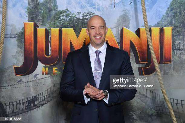 Producer of the movie Hiram Garcia attends the photocall of the Jumanji Next Level film at le Grand Rex on December 03 2019 in Paris France