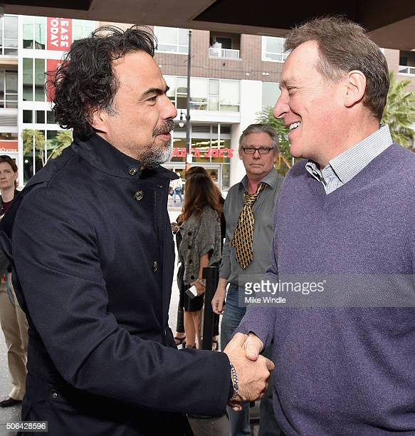 Producer of 'The Revenant' Alejandro Gonzalez Inarritu and CoPresident Producers Guild of America Gary Lucchesi attend the 2016 Producers Guild...