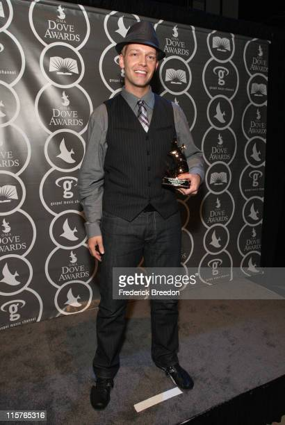 Producer of the Year Bernie Herms poses in the press room at the 40th Annual GMA Dove Awards held at the Grand Ole Opry House on April 23, 2009 in...