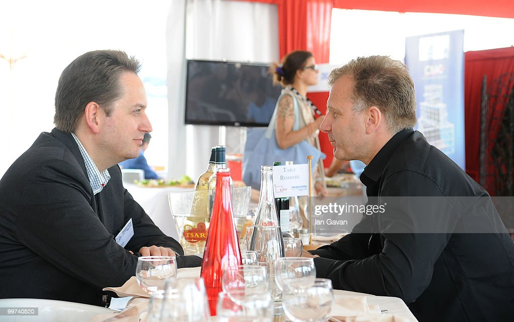 Producer Olaf Stuhrk of Common Bank and Ingvar Thordarson of Kissi Production, Iceland attend the 'Producers On The Move' Luncheon at the The VIP Room during the 63rd Annual Cannes Film Festival on May 17, 2010 in Cannes, France.