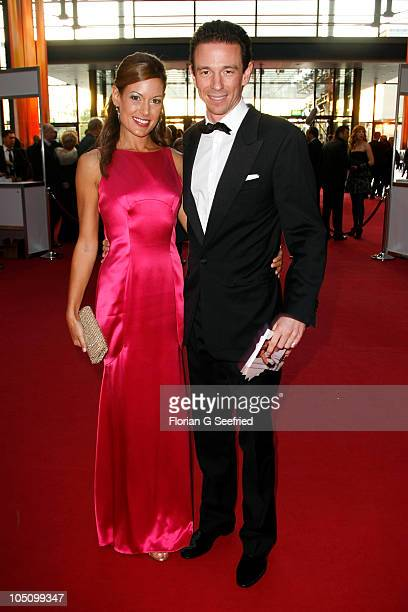 Producer Oliver Berben and girlfriend Iris attend the German TV Award 2010 at Coloneum on October 9 2010 in Cologne Germany