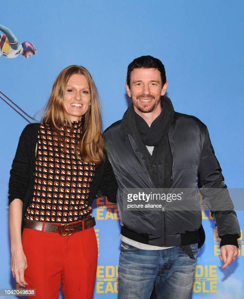 Producer Oliver Berben and his wife Katrin arrive for a special screening of 'Eddie The Eagle' in Munich Germany 20 March 2016 Photo Ursula...