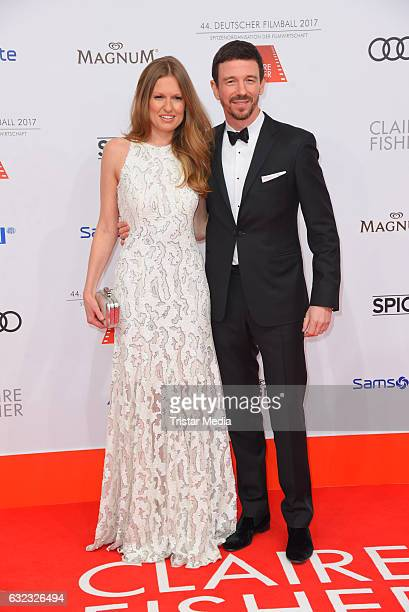 Producer Oliver Berben and his wife Katrin Kraus attend the German Film Ball 2017 at Hotel Bayerischer Hof on January 21 2017 in Munich Germany