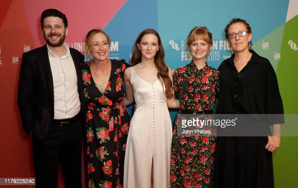 "Producer Oliver Kassman, Jennifer Ehle, Morfydd Clark, director Rose Glass and producer Andrea Cornwell attend the ""Saint Maud"" European Premiere..."