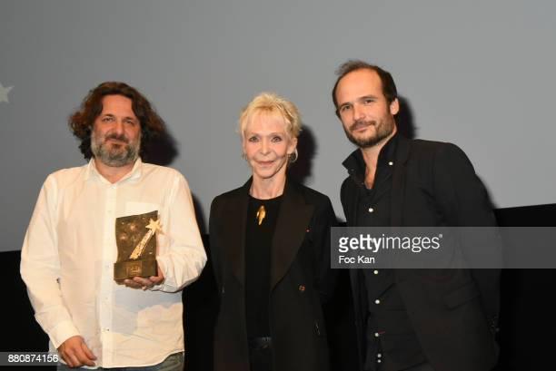 Producer Olivier Delbosc receives the director Meryem BenmÕBarek Gan 2017 award for her film 'Sofia' by Tonie Marshall and Gan Pour le Cinema 2017...