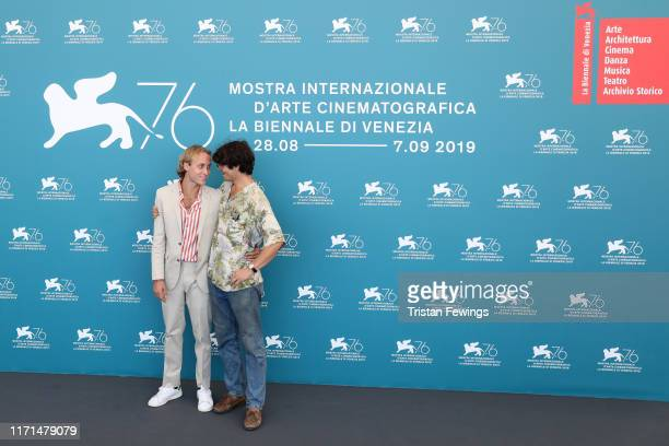 Producer Olmo Schnabel and director Grear Patterson attend Giants Being Lonely photocall during the 76th Venice Film Festival at Sala Grande on...