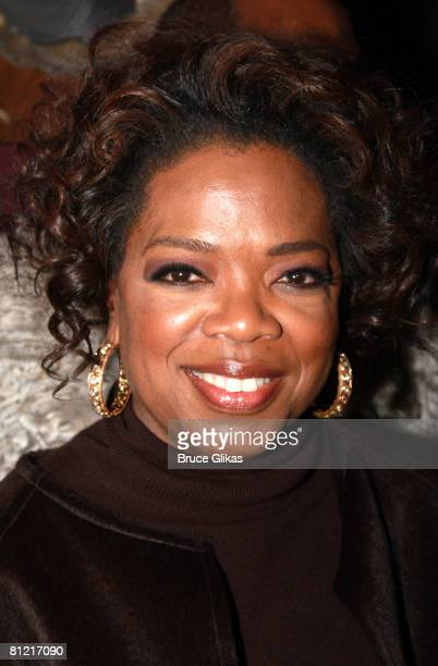 Producer Oprah Winfrey poses at Celebraton to Welcome Chaka Khan BeBe Winans and Lakisha Jones to The Color Purple on Broadway at The Broadway...