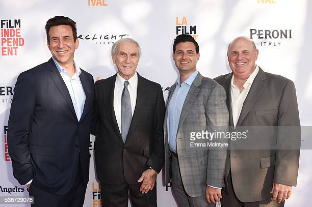 Producer Orien Richman actor Peter Mark Richman producer Adam Tenenbaum and Jerry Tenenbaum attend the premiere of 'So B It' at the Los Angeles Film...