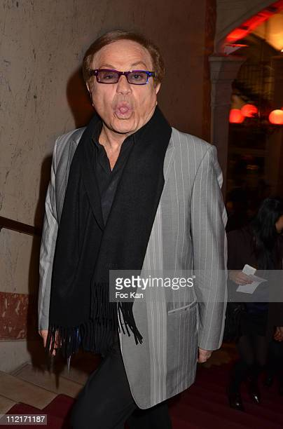 Producer Orlando attends the 'Dracula' Rock Opera By Kamel Ouali Show Case at Theatre du Chatelet on March 24 2011 in Paris France