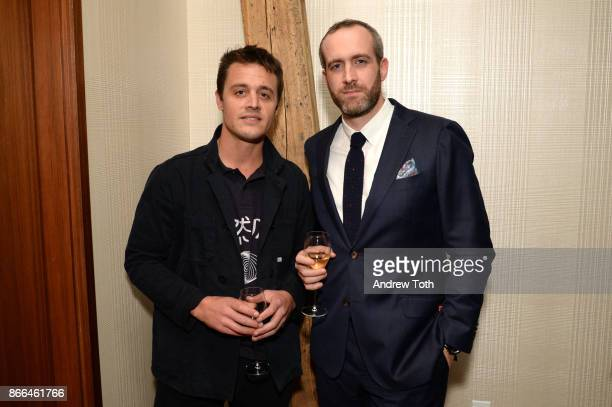 Producer Oscar Boyson and VP of Montblanc Florent Dubiez attend Surface celebrates the November power issue with Norman Foster on October 25 2017 in...