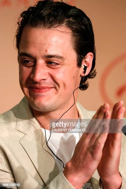 US producer Oscar Boyson poses on May 25 2017 during a press conference for the film 'Good Time' at the 70th edition of the Cannes Film Festival in...