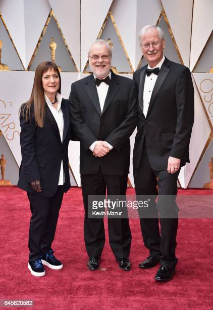 Producer Osnat Shurer directors Ron Clements and John Musker attend the 89th Annual Academy Awards at Hollywood Highland Center on February 26 2017...
