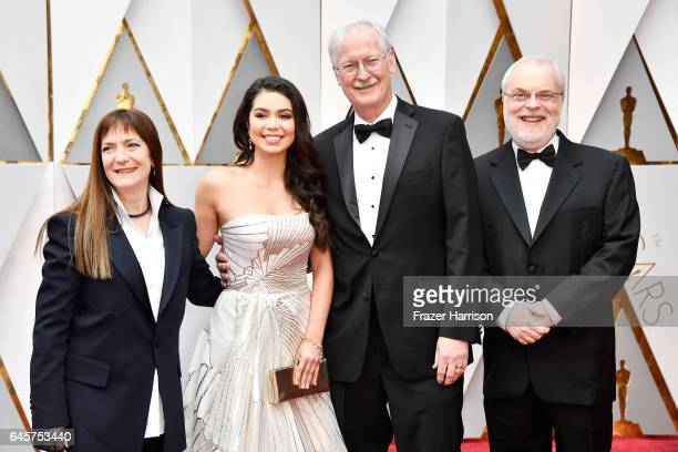 Producer Osnat Shurer singer Auli'i Cravalho Writer Director John Musker and Writer Director Ron Clements attend the 89th Annual Academy Awards at...