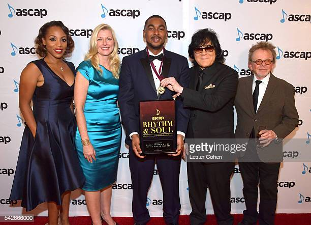 Producer Ousala 'Prestley Snipes' Aleem with ASCAP SVP of Membership Nicole George Middleton, ASCAP CEO Beth Matthews, ASCAP EVP of Membership John...