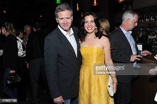 Producer Owen Moogan and Jacqueline Mazarella attend Live From New York Los Angeles Premiere After Party at Hinoki The Bird on June 10 2015 in Los...