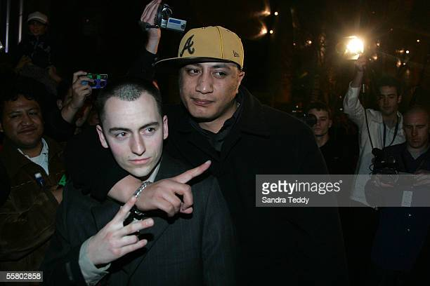 Producer P Money and Hip Hop artist Scribe arrives at the Vodafone New Zealand Music Awards at the Aotea Centre in Auckland Wednesday September 22nd...