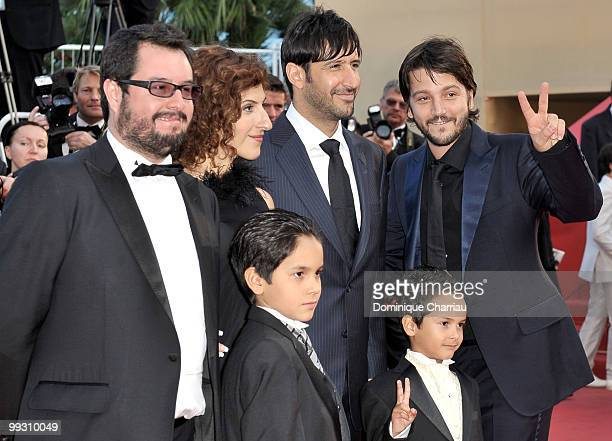 Producer Pablo Cruz Jose Maria Yazpik Karina Gidi Christopher RuizEsparza director Diego Luna and Gerardo RuizEsparza attend the 'Abel' premiere held...