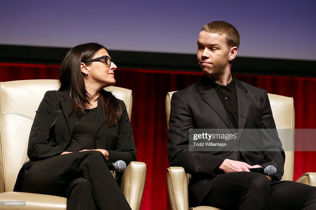 "Producer Pamela Abdy and actor Will Poulter speak onstage during CinemaCon and 20th Century Fox Present ""From Passion to the Big Screen: An Afternoon with the Creative Team Behind 'The Revenant'"" at Caesars Palace during CinemaCon, the official convention of the National Association of Theatre Owners, on April 13, 2016 in Las Vegas, Nevada."