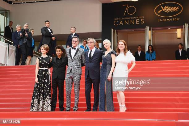 Producer Pamela Koffler actor Jaden Michael Screenwriter Brian Selznick Director Todd Haynes actresses Michelle Williams and Julianne Moore attend...