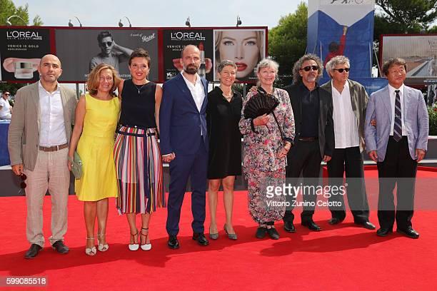 Producer Paola Malaga directors Martina Parenti and Massimo D'Anolfi actors Sabina Scharer Marina Vlad guest Felix Rohner and scientist Shin Kubota...