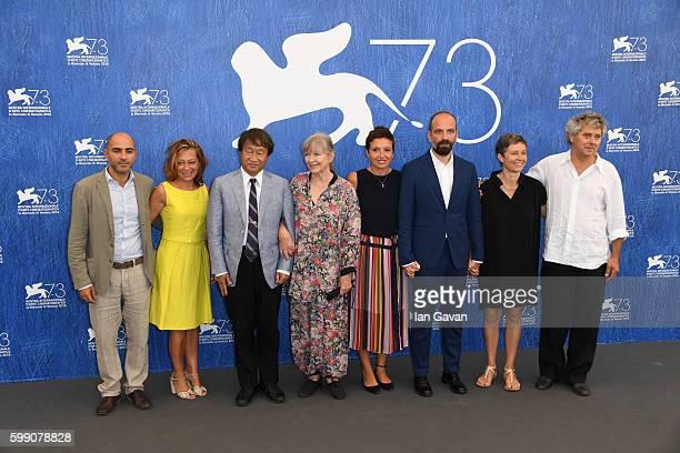 Producer Paola Malanga scientist Shin Kubotam actress Marina Vlady directors Martina Parenti and Massimo D'Anolfi Sabina Scharer and Felix Rohner...