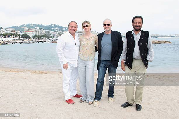 Producer Pascal Vicedomini Emma Tweed director Michael Radford and director Shekhar Kapur attend the Ischia Global Festival Cocktail at the Pavillon...