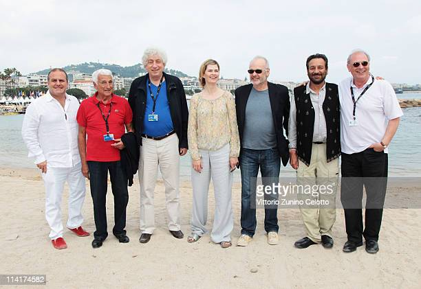 Producer Pascal Vicedomini Fulvio Lucisano producer Avi Lerner Emma Tweed director Michael Radford director Shekhar Kapur and guest attend the Ischia...
