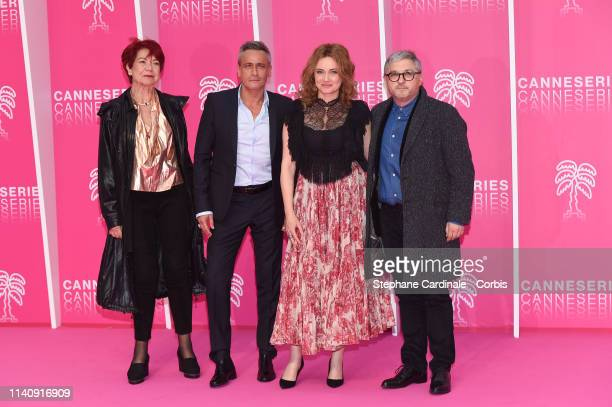 Producer Pascale Breugnot actor JeanMichel Tinivelli actress Marine Delterme and producer Vincent Moluquet of Alice Nevers Serie attend the 2nd...