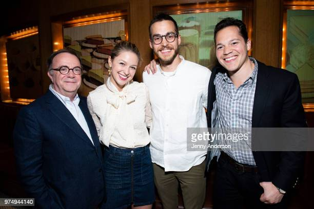 Producer Paul Blake Melissa Benoist Chris Wood and producer Mike Bosner attend Melissa Benoist's opening night on Broadway in 'Beautiful The Carole...