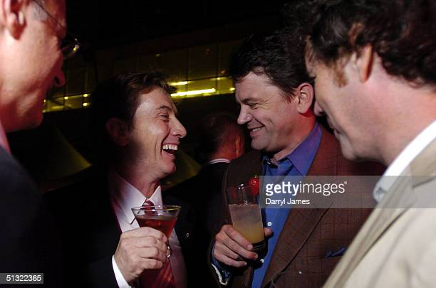 """Producer Paul Brooks, actor Martin Short, actor John Michael Higgins and director Vadim Jean attend the """"Lalawood"""" after party and festival closer..."""