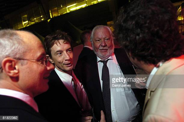 """Producer Paul Brooks, actor Martin Short, executive producer Bernie Brillstein and director Vadim Jean attend the """"Lalawood"""" after party and festival..."""