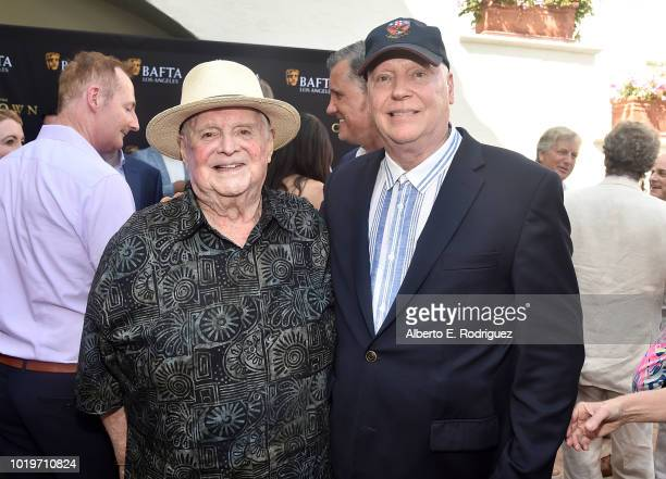 Producer Paul Heller and filmmaker Erik Friedl attend the BAFTALA Summer Garden Party at The British Residence on August 19 2018 in Los Angeles...